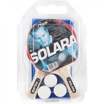 Set Stiga Solara 2-player ping-pong + 3 minge grid 187901