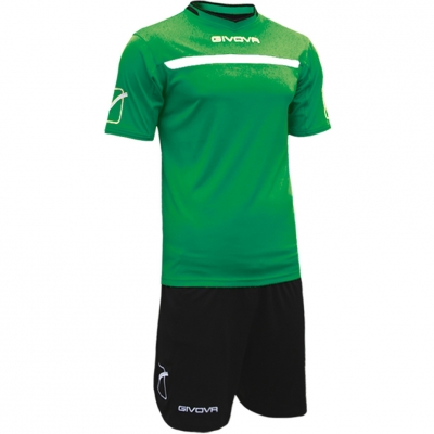 Givova kit echipament fotbal complet One verde-negru