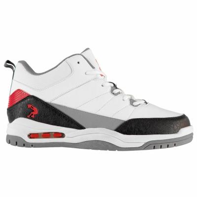 Adidasi sport SHAQ Press pentru Barbati alb negru rosu