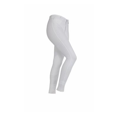 Pantaloni calarie Shires pentru fetite alb