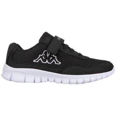 Shoes Kappa K Follow negru-and-alb 260604K 1110 pentru Copii