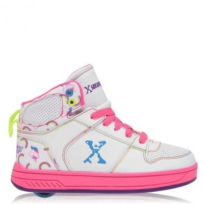Adidasi inalti Sidewalk Sport cu role Shoes pentru fetite alb