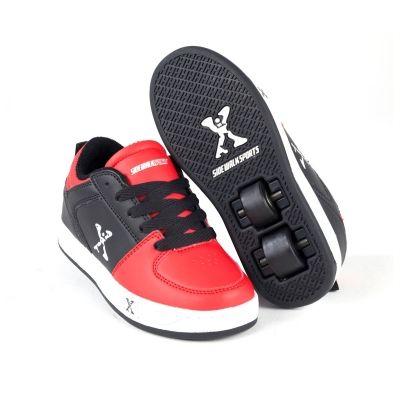 Adidasi cu role Sidewalk Sport Street pentru copii negru rosu