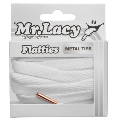 Sireturi Mr Lacy Flatties Metal alb roz