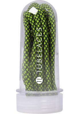 Sireturi Multi negru-verde Tubelaces neon
