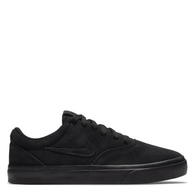 Nike SB Charge Suede Skate Shoes pentru copii triple negru
