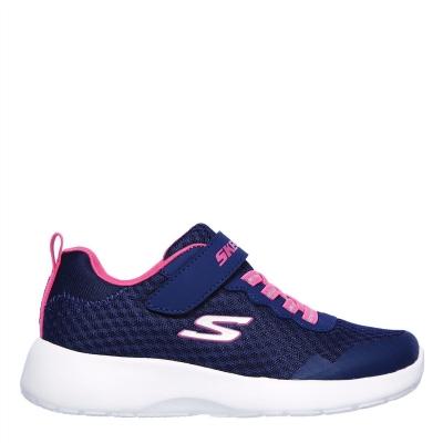 Adidasi sport Skechers Dynamight Memory Foam Child pentru fete bleumarin roz