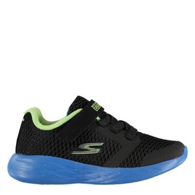 Adidasi Skechers GoRun Adidasi sport 600 pentru Bebelusi negru albastru verde lime