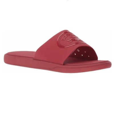 Slapi barbati lacoste sandal l.30 slide rosu