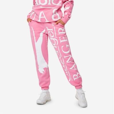 Pantaloni jogging Slazenger Banger Banger cu imprimeu roz