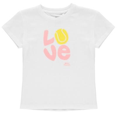 Tricou Slazenger imprimeu Graphic pentru fetite alb