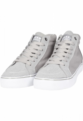 Sneaker High Canvas gri-alb Urban Classics