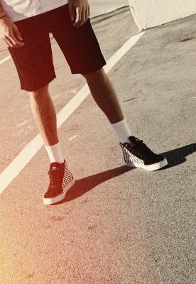Sneaker Printed High Canvas negru-alb Urban Classics