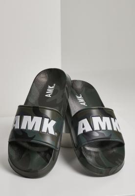 Soldier AMK Slides inchis-verde camuflaj