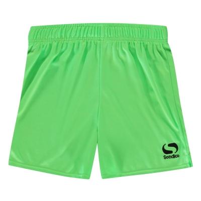 Sort fotbal Sondico Core pentru copii verde fosforescent negru