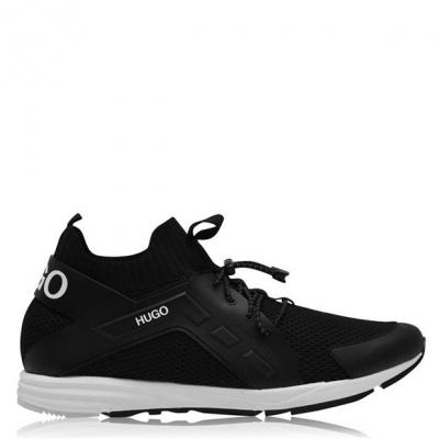 Sosete Adidasi sport HUGO Hybrid Logo cu tricot negru
