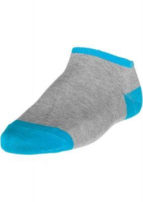 Sosete scurte pentru adidasi gri-turcoaz Urban Classics