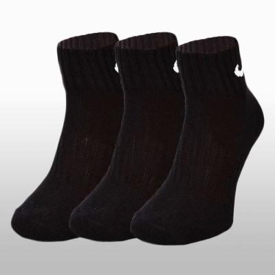 Sosete negre Nike 3 perechi Value Cotton Quarter Unisex adulti