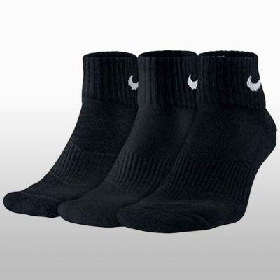 Sosete negre Nike Leightweight Quarter 3 perechi SX4706-001 Unisex adulti