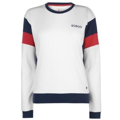 Bluza de trening SoulCal Deluxe Colour Block alb bleumarin rosu