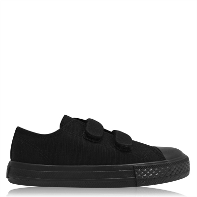 SoulCal Canvas Hook and Loop Tape Shoes negru