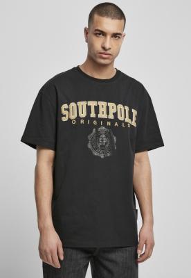Southpole College Script Tee negru