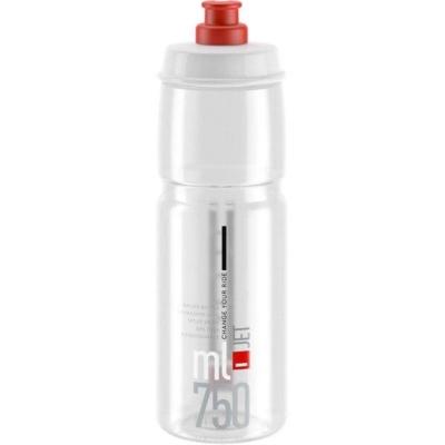 Sticla de Apa Elite Jet Biodegradable - 750ml transparent rosu