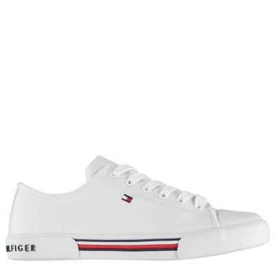 Tenisi din Panza Tommy Hilfiger Tommy alb