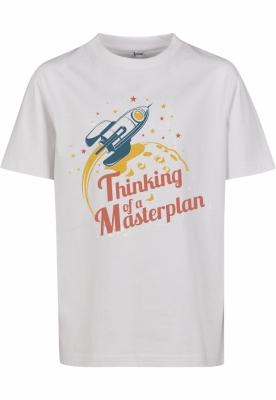 Thinking Of A Masterplan Tee pentru Copii alb Mister Tee