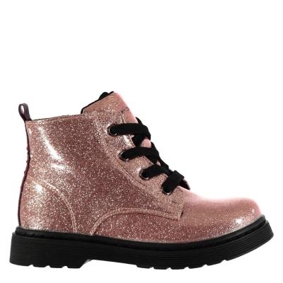 Tommy Hilfiger Glitter Booties roz