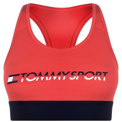 Tommy Sport High Support Bra true rosu