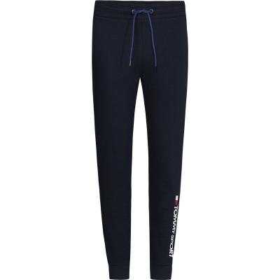 Pantaloni jogging Tommy Sport Tommy pentru femei bej albastru