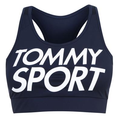 Bustiera sport Tommy Sport Logo bleumarin