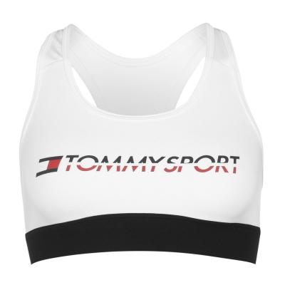 Bustiera sport Tommy Sport Medium pvh alb