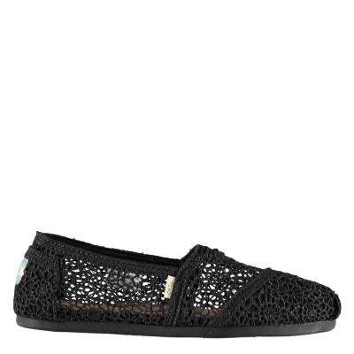 Toms Moroccan Crochet Classics negru lace