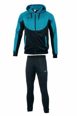 Trening copii joma hoodie essential negru turcoaz