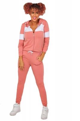Trening femei j5 fashion panel hooded lounge roz