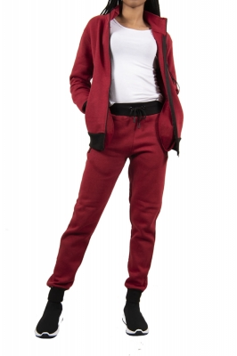 Trening femei j5 fashion zip up ts2437 visiniu