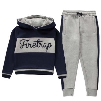 Trening Firetrap 2 Piece pentru baieti pentru Bebelusi bleumarin albastru