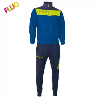Trening sport TUTA CAMPO FLUO Givova albastru galben fosforescent