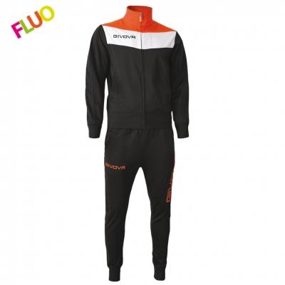 Trening sport TUTA CAMPO FLUO Givova negru portocaliu fosforescent