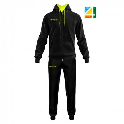 Trening sport TUTA KING 4 SEASONS Givova negru galben fosforescent