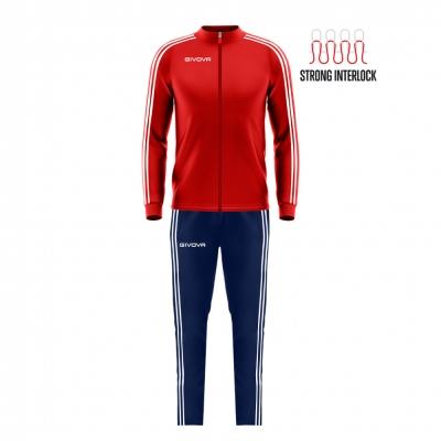 Trening sport TUTA REVOLUTION SUMMER Givova rosu albastru