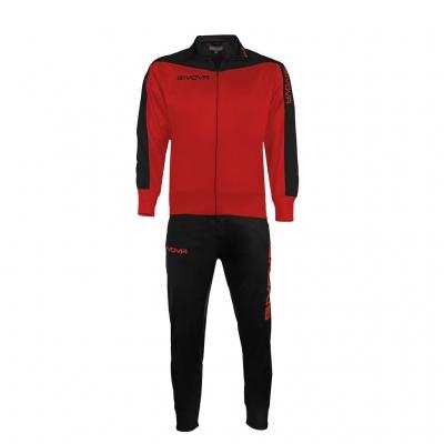 Trening sport TUTA ROMA Givova rosu negru