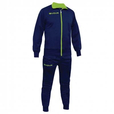 Trening sport TUTA TORINO Givova albastru galben fosforescent