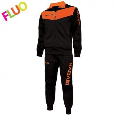 Trening TUTA VISA Trening sport FLUO Givova negru portocaliu fosforescent