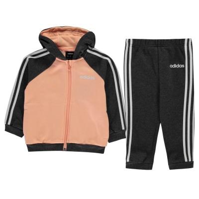 adidas 3-Stripes Jogger pentru Copii glow roz gri