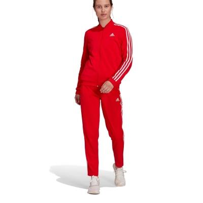 Treninguri adidas Back 2 Basics 3-Stripes pentru femei rosu alb
