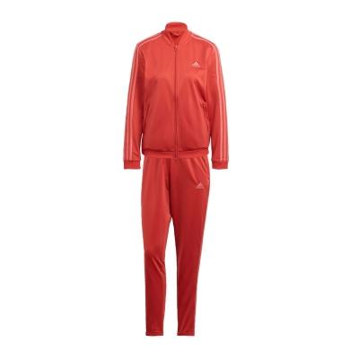 Treninguri adidas Essentials 3-Stripes pentru femei crew rosu gri roz