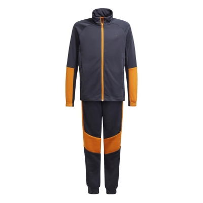 Treninguri adidas XFG pentru baieti gri carbon portocaliu